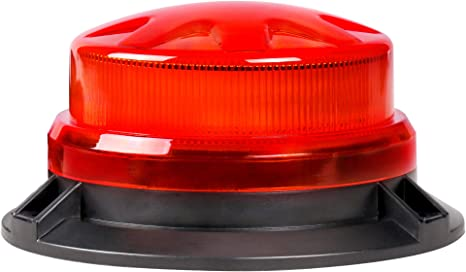12v LED RED STROBE ROUND Security Warning ALARM Car LIGHT Beacon Flashing Blink