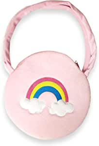 101 BEACH Girls Small Unicorn Round Handbag Purse Party Gift Bag (Pink)