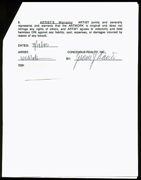 Jerry Garcia Signed 3 Page Grateful Dead Merchandising Agreement Psa