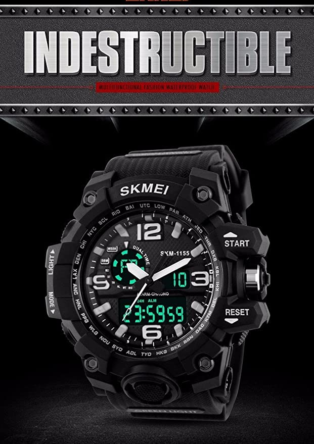 Amazon.com: Relojes de Hombre de Moda 2018 Sport Water Resistant Watch Reloj Digital Men RE0088: Watches