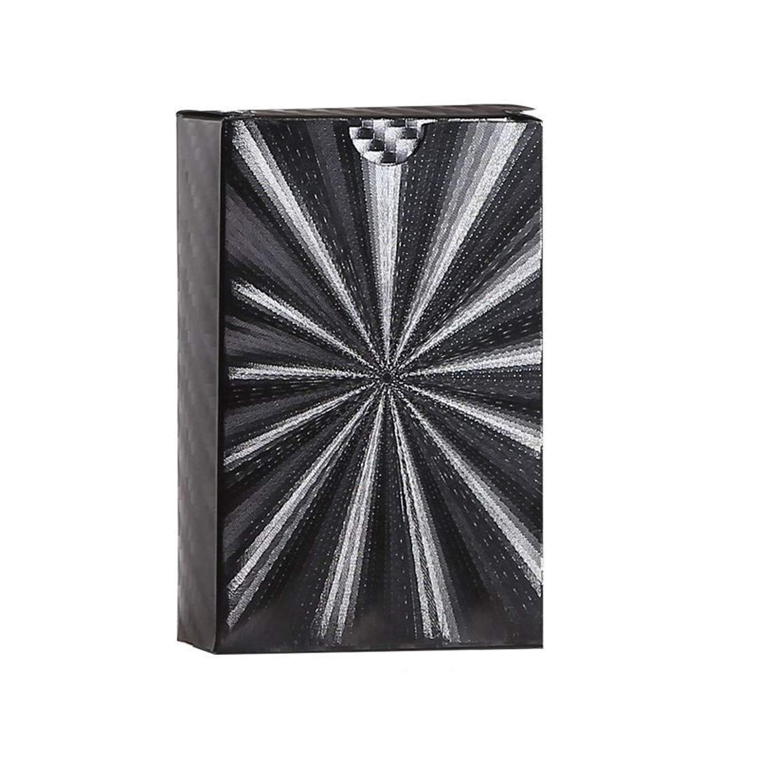 R twoboxes PET Local Black gold foil Poker, Creative Waterproof Plastic Washable Playing Cards,H,twoboxes