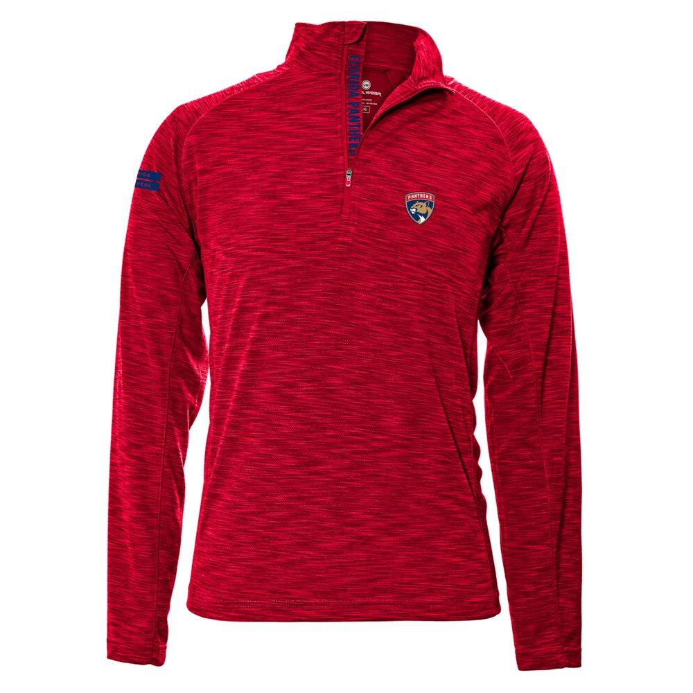 Levelwear LEY9R NHL(ナショナルホッケーリーグ)動きやすいインシグニアストロングスタイル クオータージップ ミットレイヤー B074PKGHS7 X-Large|レッド(Flame Red)|Florida Panthers レッド(Flame Red) X-Large