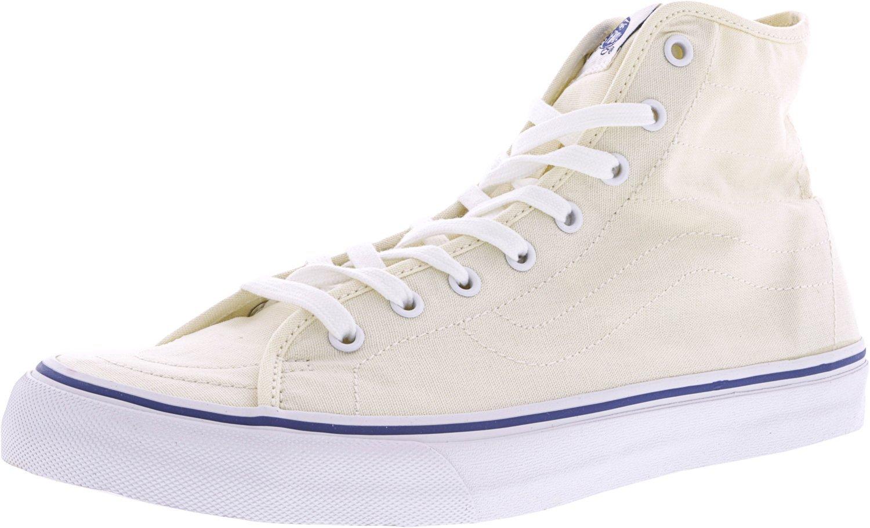 Vans Womens Sk8-Hi Decon Leather Hight Top Lace up Fashion Sneakers B019KUY1FU 10.5 M US Women / 9 M US Men Classic White / True White