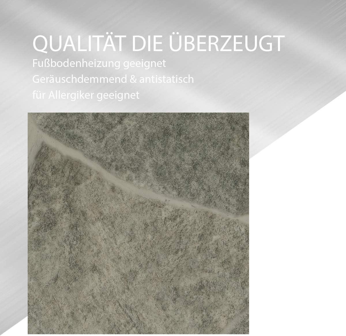 CV-Boden wird in ben/ötigter Gr/ö/ße als Meterware geliefert /& pflegeleicht CV PVC-Belag verf/ügbar in der Breite 300 cm /& L/änge 450 cm PVC Vinyl-Bodenbelag in Bruchstein Grau Optik