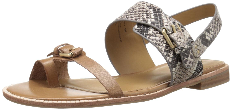 G.H. Bass & Co. Women's Monica Toe Ring Sandal B01APXLJQK 8 B(M) US|Grey Multi/Snake