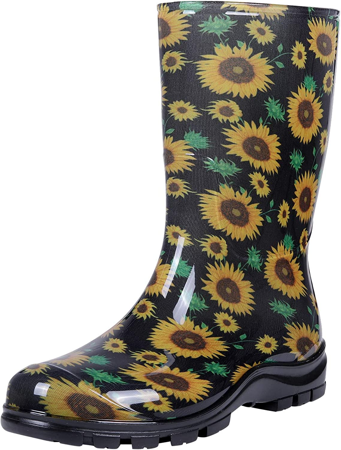 Asgard Women's Mid Calf Rain Boots Short Waterproof Garden Shoes