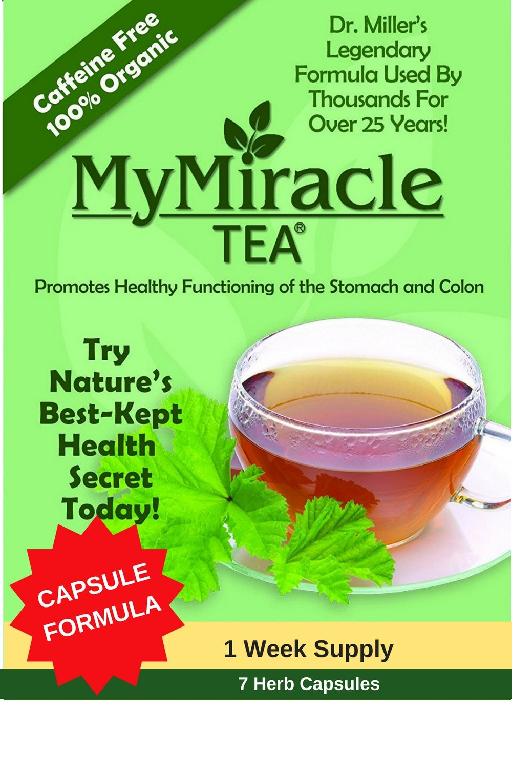 Amazon.com : Dr. Miller's Holy Tea | My Miracle Tea Constipation ...