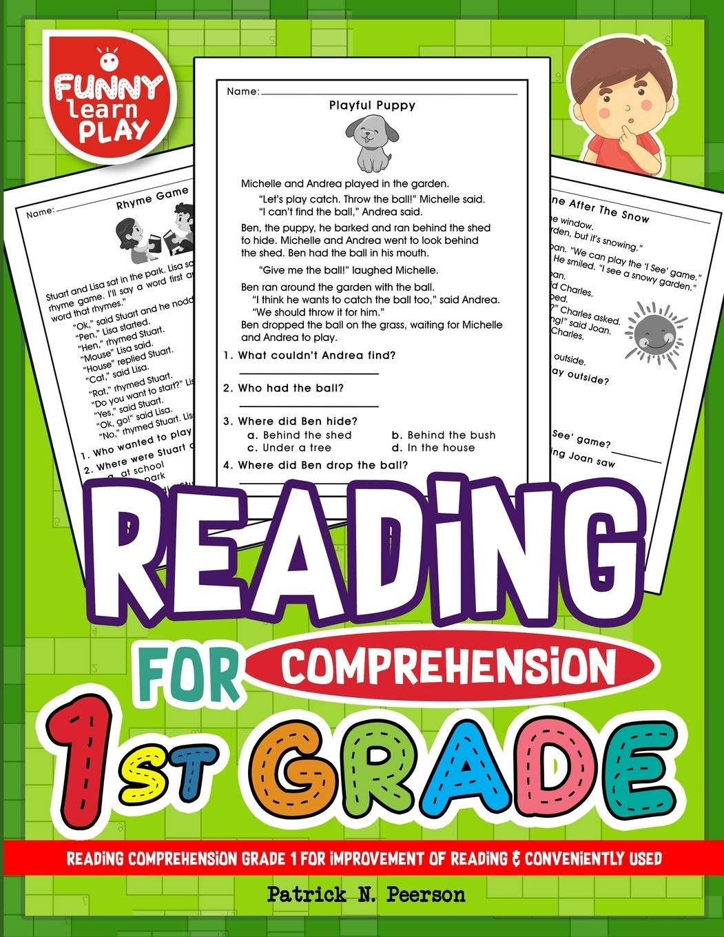 - Reading Comprehension Grade 1 For Improvement Of Reading & Conveniently  Used: 1st Grade Reading Comprehension Workbooks For 1st Graders To Combine  Fun & Education Together: Peerson, Patrick N.: 9781727236675: Books -  Amazon.ca