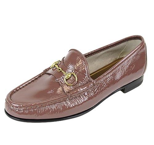 Gucci Bocado de cuero mocasín 338348 de patentes de 1953 (9.5 U.S. / 39,