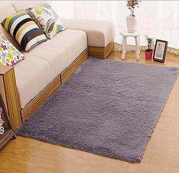 Tojwi Super Soft Modern Shag Area Rugs Living Room Carpet Bedroom Rug For  Children Play Solid