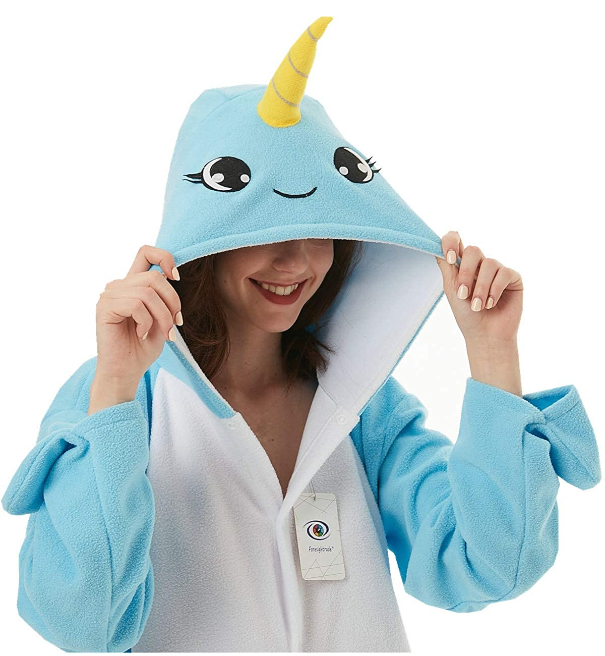 Foresightrade Adults and Children Animal Narwhal Multi-Color Cosplay Costume Pajamas Onesies Sleepwear