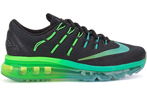 promo code 0a160 ea6e8 Nike AIR MAX 2016 womens running-shoes black multi color-midnight turquoise-clear  jade-rage green 8 B(M) US  Amazon.in  Shoes   Handbags