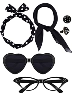 32da9f6854cae Amazon.com  1950 s Womens Costume Accessories -Cat Eye Glasses