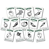Organic Salsa Garden Seed Kit - 13 Varieties of Heirloom Non-GMO Vegetable Herb and Pepper Seeds - Tomatoes, Tomatillo, and O
