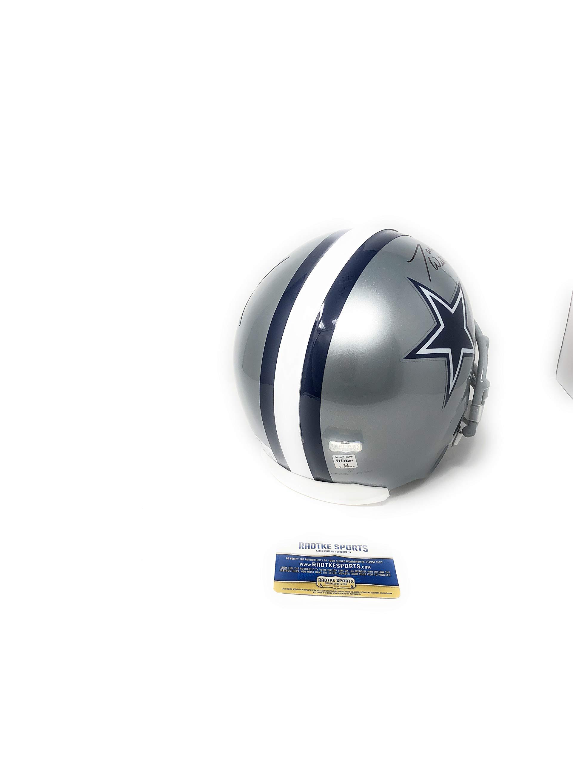 Jason Witten Dallas Cowboys Signed Autograph Full Size Helmet Witten 82 Holo & Radtke Sports Certified