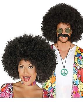Horror-Shop Afro peluca negro: Amazon.es: Juguetes y juegos
