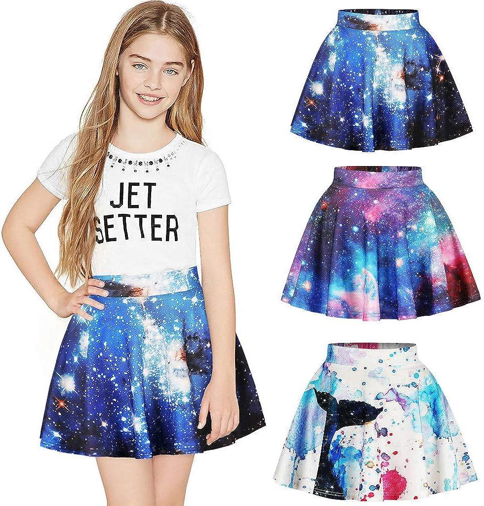 K-Youth® Falda de tutú Niña Casual 3D Estampado de Galaxia ...