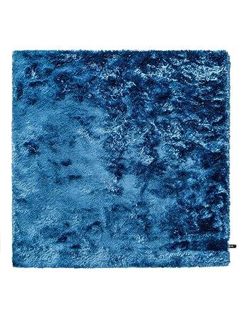 Benuta Shaggy Hochflor Teppich Whisper Blau 60x60 Cm Langflor