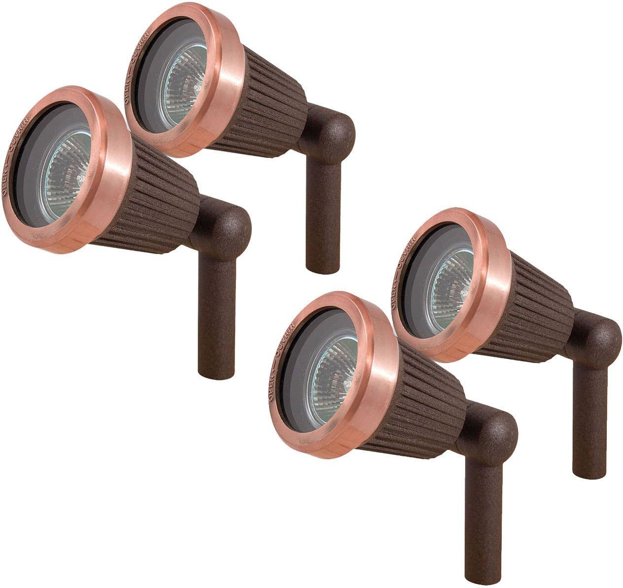 Paradise GL22724 Low Voltage Cast Aluminum 20W Spotlight (Copper, 4 Pack)