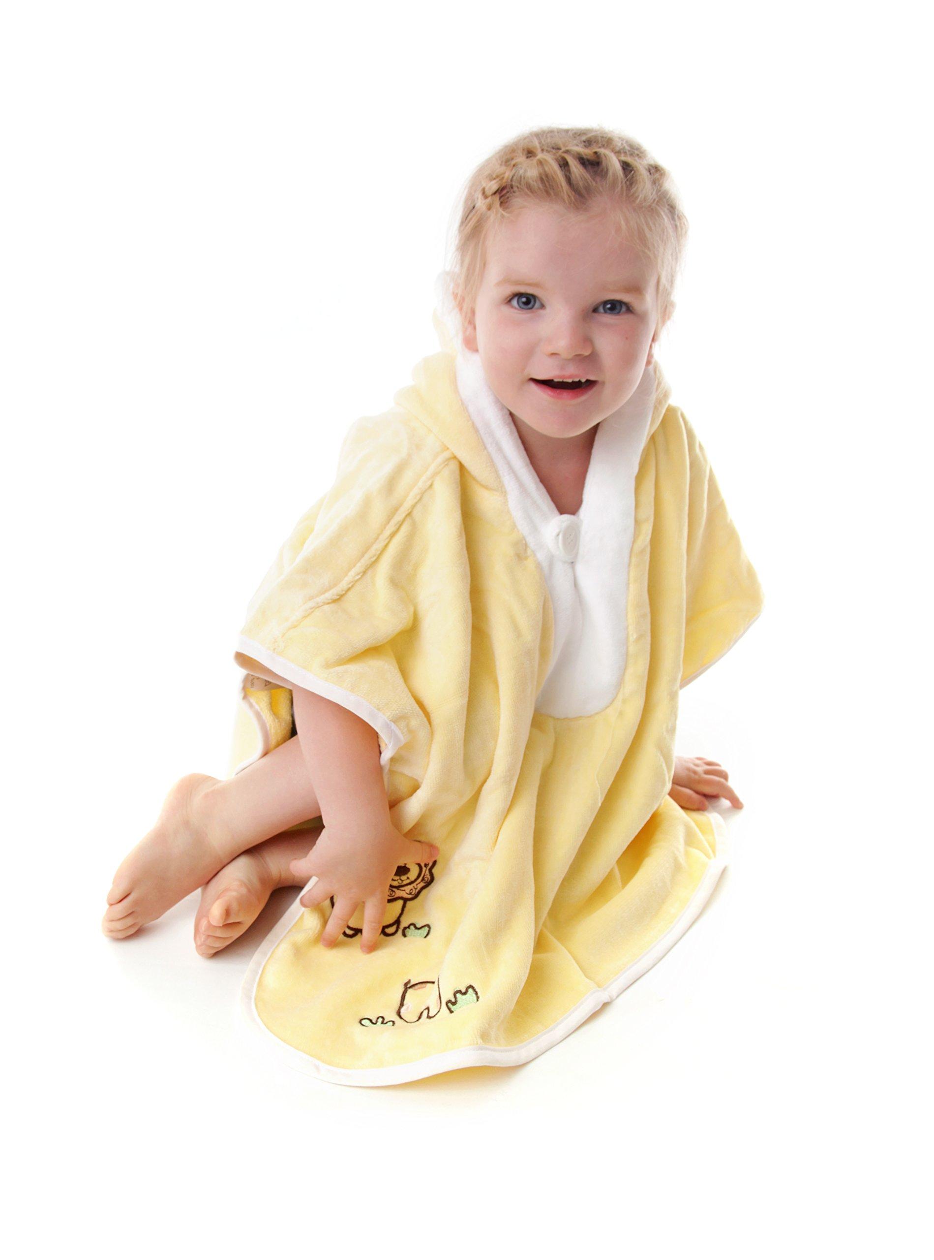 Slumbersafe Kids Bath Poncho Towel Sunshine Zoo