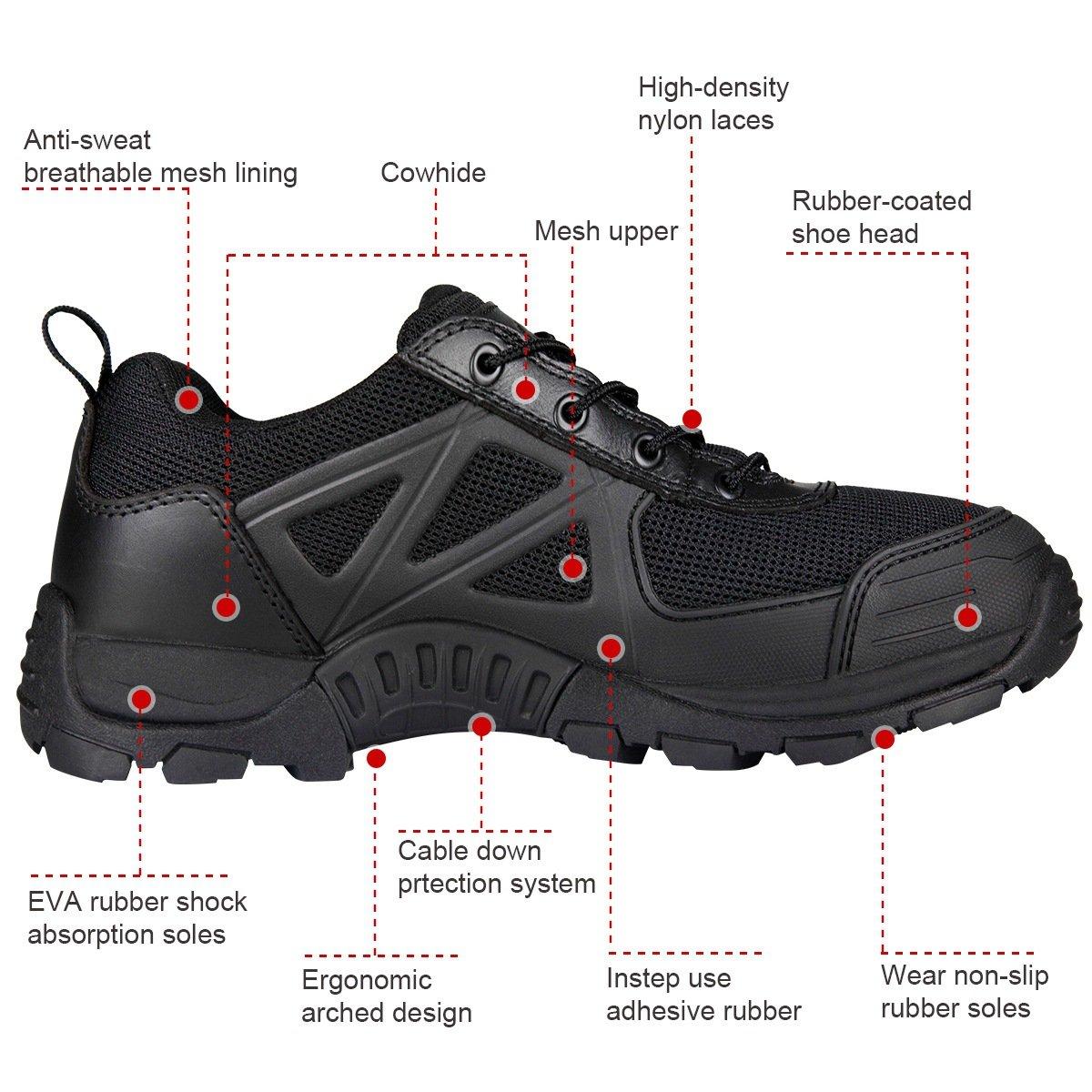 FREE SOLDIER Tactical Desierto Zapatos Rápido Antideslizante Camping Senderismo Montaña Todo Terreno Off-Road Zapatos: Amazon.es: Deportes y aire libre