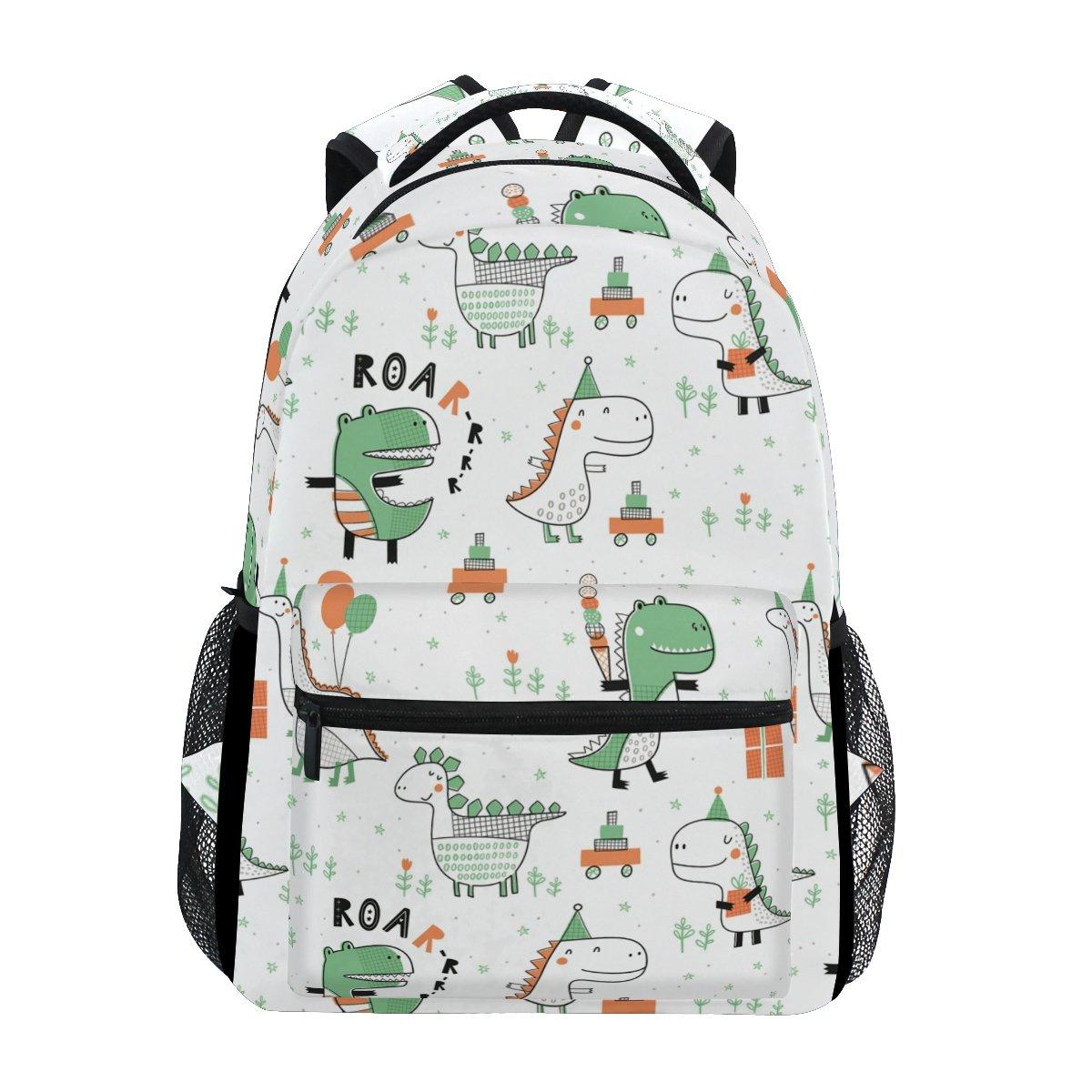 Dinosaur Laptop Backpack, Large Cute School Bookbag Lightweight Waterproof Travel Hiking Shoulder Bag Durable Computer Bag Casual Daypack for Women Men Girls Boys
