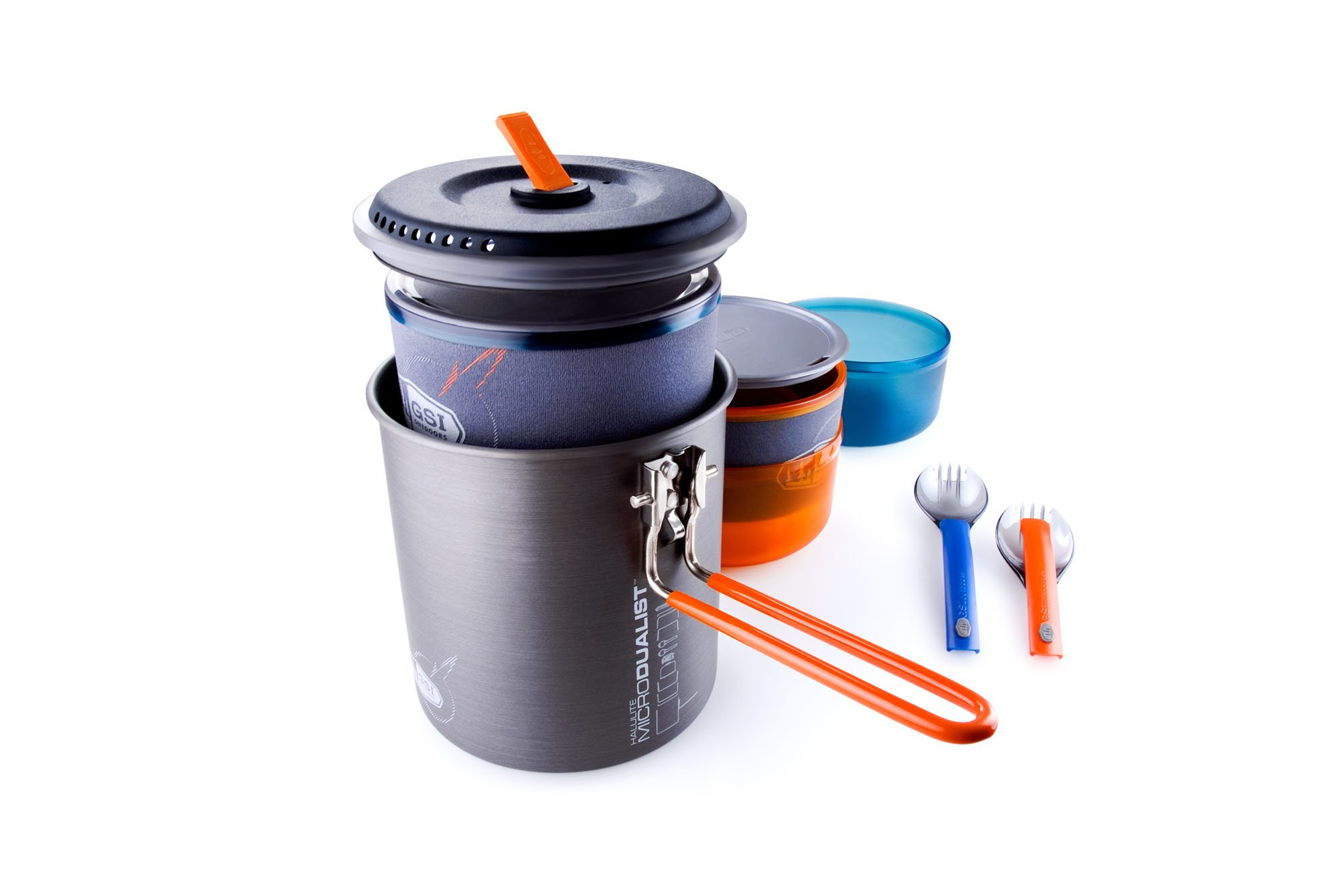 GSI Outdoors - Halulite Microdualist, Cookset for Two, Superior Backcountry Cookware Since 1985 by GSI Outdoors