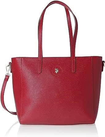 US Polo Womens Jones Shopping Bag, Red - BIUJE0661WVP400