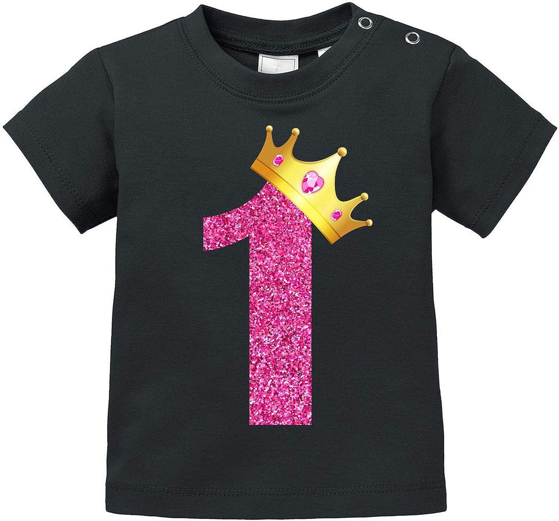 Pullover 100/% Bio Baumwolle 1 T-Shirt EZYshirt/® Geburtstag Baby /& 2 Geburtstag Krone M/ädchen Erster /& Zweiter Geburtstag Body