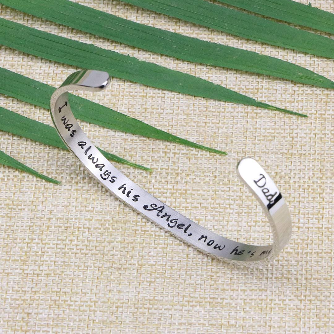 Joycuff Remembrance Jewelry Memorial Bracelet Sympathy Gift for Loss Loved One Women Remembrance Cuff Bangle