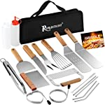 ROMANTICIST 19-Piece Griddle Tool Kit - Professional Stainless Steel Grilling Set