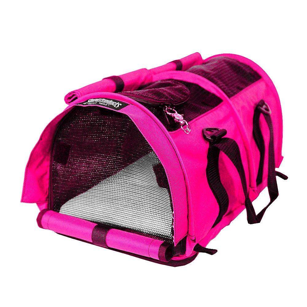 Hot Pink Sturdi Products SturdiBag Small Pet Carrier, Smoke