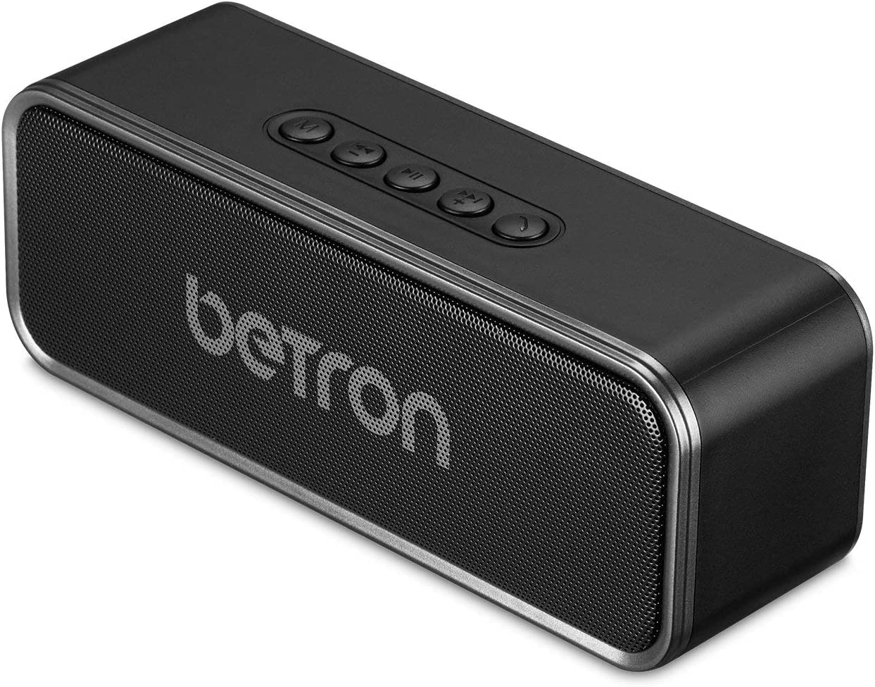 Betron D51 Bluetooth Wireless Speaker, Stereo Sound, Enhanced Bass, 5W Dual High Performance Drivers, Compatible with iPhone, Samsung, Tablets, Laptops and More, Black