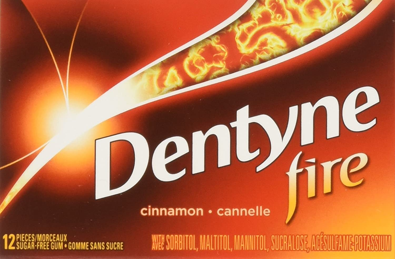 Dentyne Fire Cinnamon Chewing Gum, 12 Count Mondelez