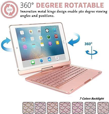 ZOC - Funda con Tapa para iPad Pro 10,5 (con Teclado, Funda ...