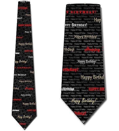 Hombres Corbata Corbata,Feliz Cumpleaños Corbatas Cumpleaños Para ...