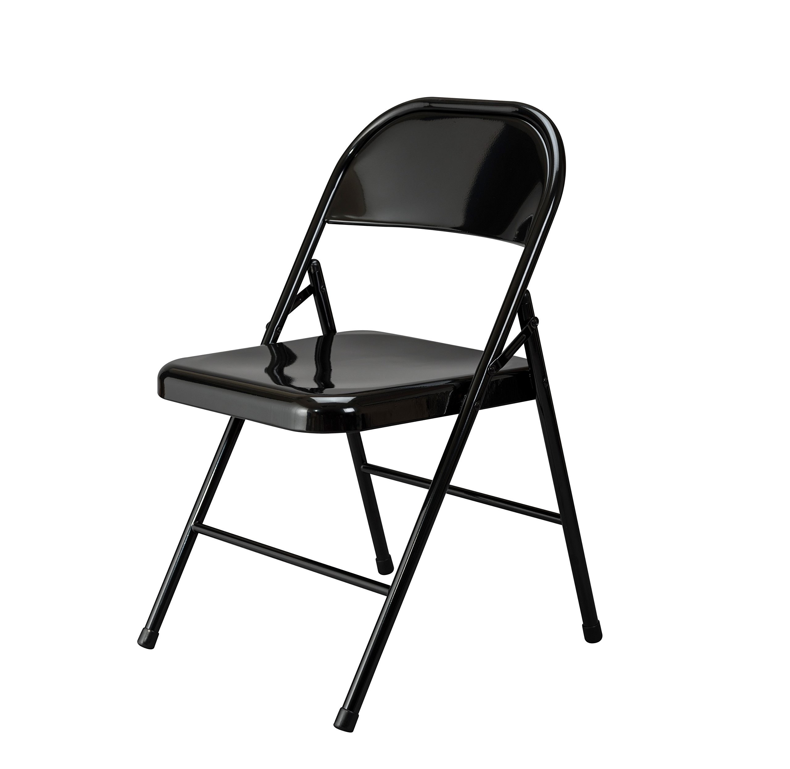 Essentials Multipurpose Metal Folding Chair, Black - 4 Pack by OFM