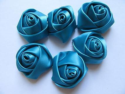 Baby Blue YYCRAFT Pack of 30 Satin 4d Rose 1.5 Craft Wedding Bride