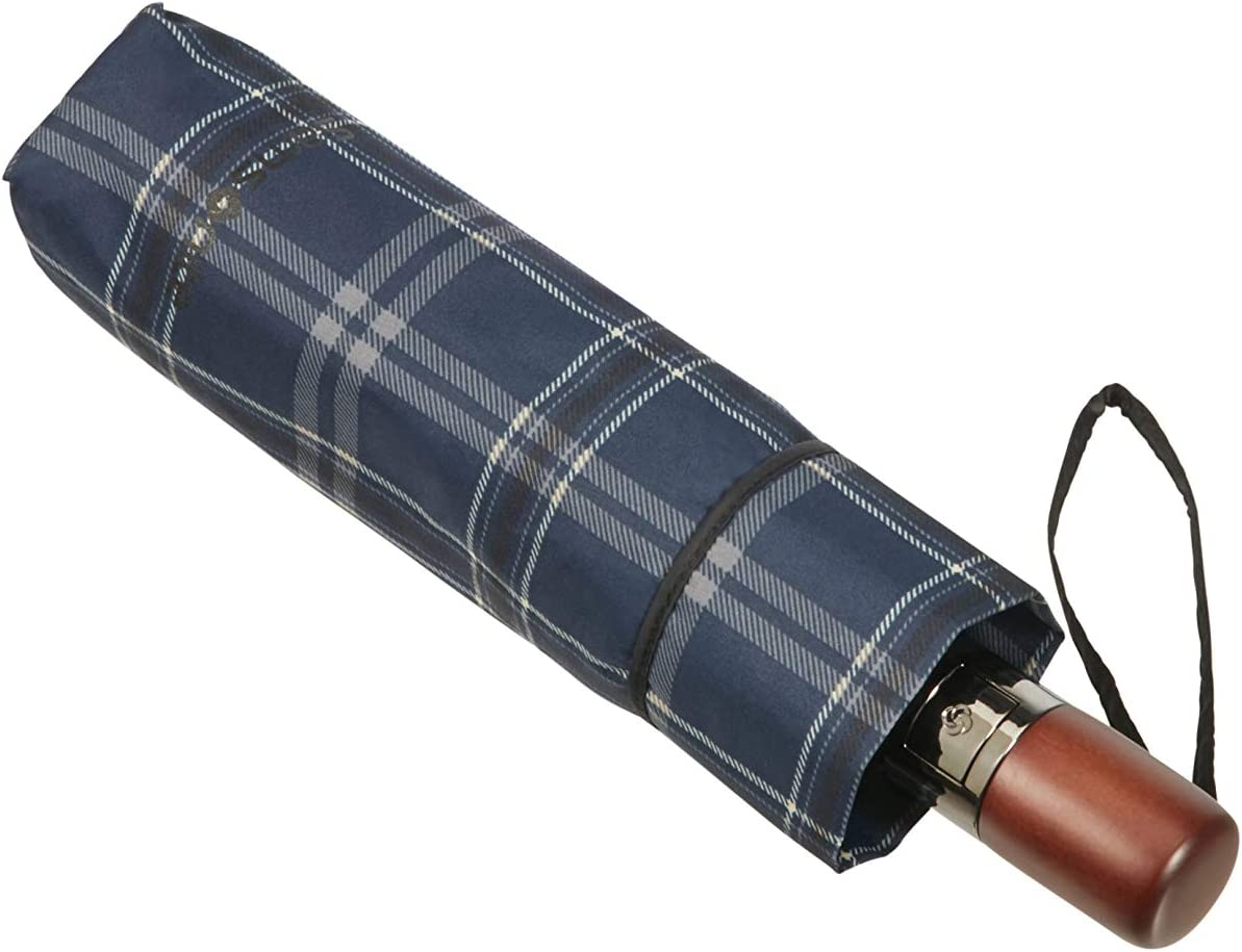 SAMSONITE Wood Classic S Noir 3 Section Auto Open Close Short Parapluie Pliant 27 cm Black