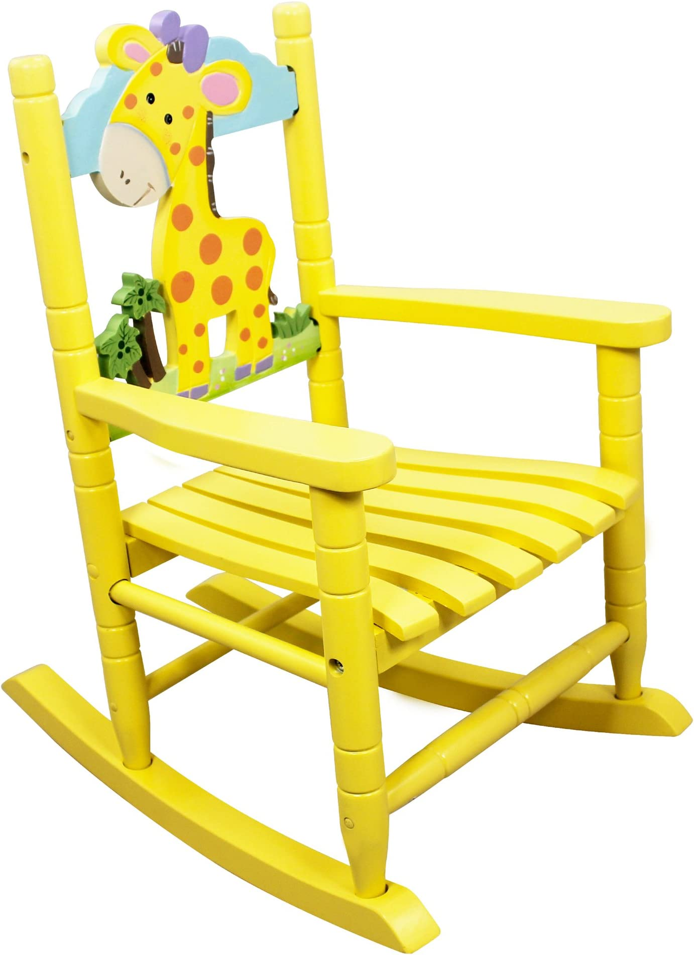 Teamson Kids - Safari Wooden Rocking Chair for Children - Giraffe  sc 1 st  Amazon.com & Kidsu0027 Rocking Chairs | Amazon.com
