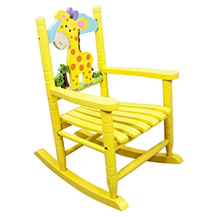 amazon com teamson kids safari wooden rocking chair for children