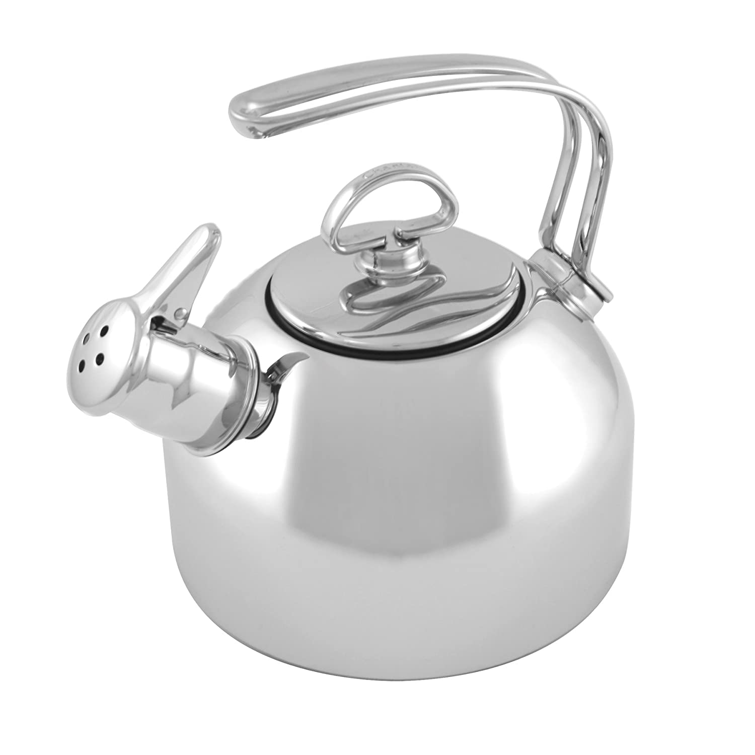 amazoncom chantal stainless steel classic teakettle  quart  - amazoncom chantal stainless steel classic teakettle  quart tea kettleceramic stovetop safe kitchen  dining