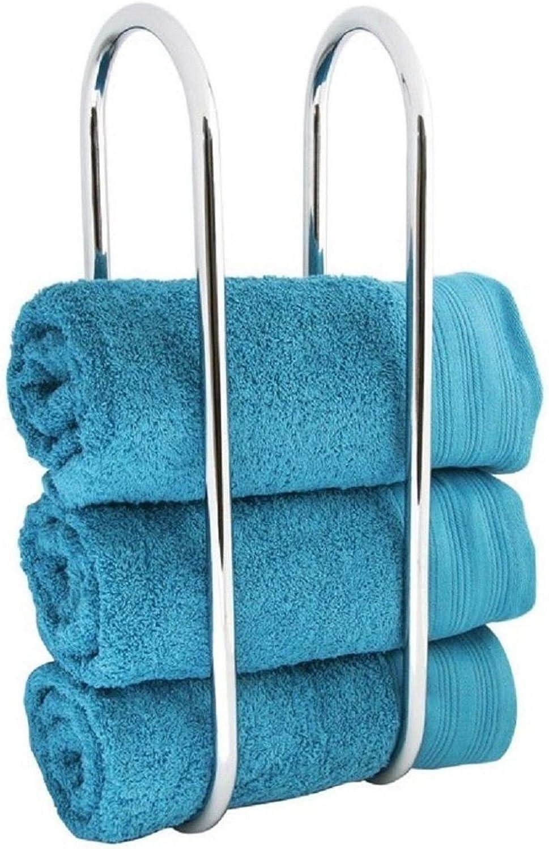 Small//Large Wall Towel Rails Towel Bar Holder Shelf Bathroom Storage Rack Storage Towel Rail Wilsons Direct 1 x Wall Mounted Towel Rail