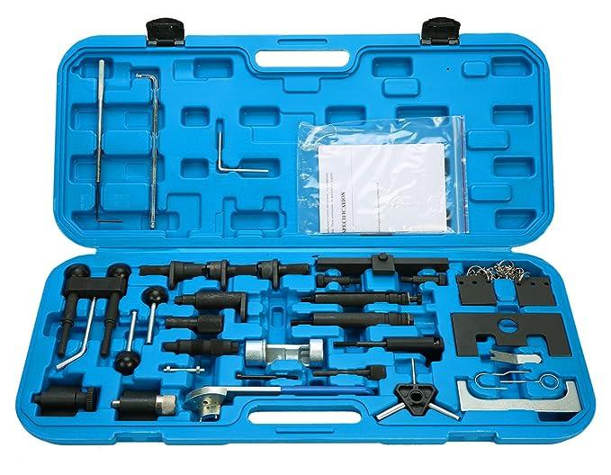 FreeTec Kit de herramientas para encendido de motor Cinturón de ajustar Locking VAG Gasolina Diesel Set: Amazon.es: Coche y moto
