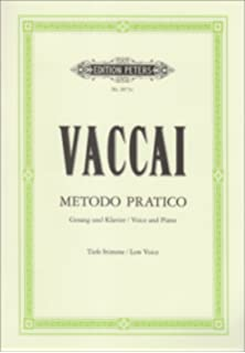 Instruction Books, Cds & Video Sheet Music & Song Books Vaccai Practical Method Low Contralto Or Bass Cd