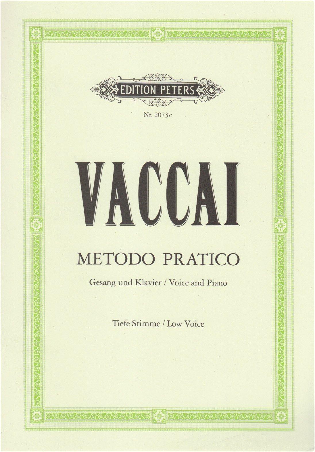 Metodo Pratico di Canto Italiano: Tiefe Singstimme / (für Gesang und Klavier)