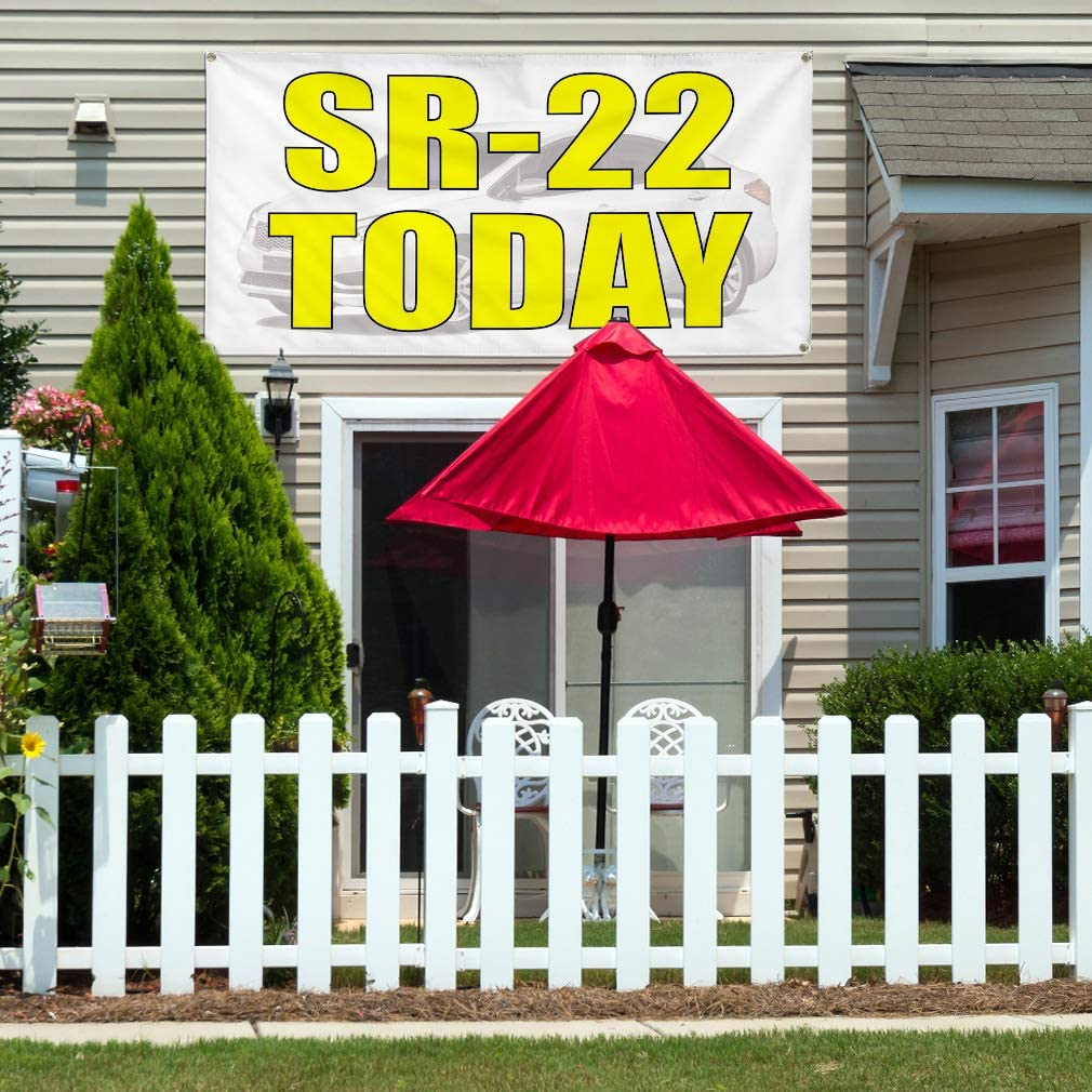 27inx18in Decal Sticker Multiple Sizes Sr-22 Today Automotive Sr 22 Today Outdoor Store Sign White Set of 5