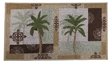 Palm Tree Paradise Rug, Tropical Decor Kitchen Rug