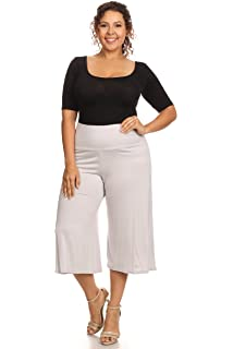 a64ba653edd01 Women s Plus Size Soft Capri Gaucho Pants Made in USA
