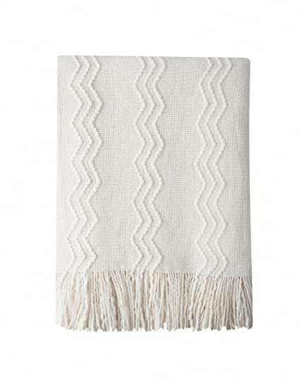 Amazoncom Bourina Throw Blanket Textured Solid Soft For Sofa Couch